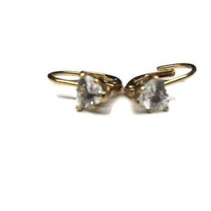 Vtg Triangular Crystal Earrings  Child or Adult
